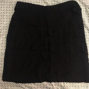 Banana Republic Ruffle Black Skirt